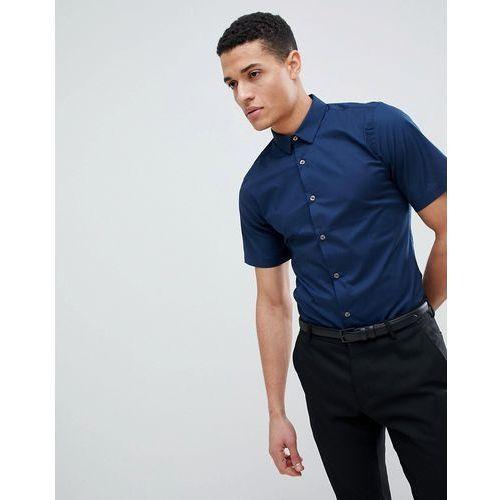 plain poplin stretch short sleeve shirt - navy, French connection, XS-XL
