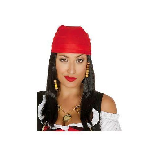 Peruka Pirat z czerwoną bandaną (8434077049808)