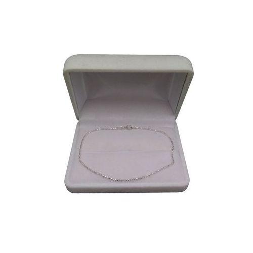 Bransoletka srebrna kostka SB05-A, kolor szary