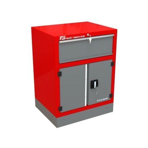 Fastservice Szafka warsztatowa z 1 szufladą i drzwiami – t-32