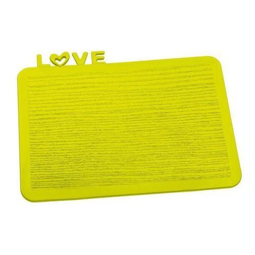Deska śniadaniowa Happy Boards Love musztardowa (4002942294550)