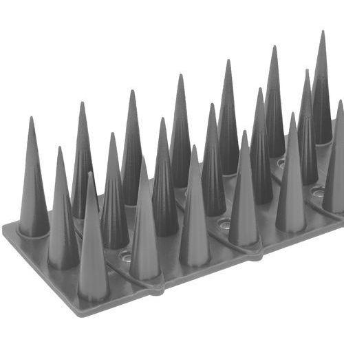 Plastikowe kolce na ptaki. Listwa z kolcami przeciw ptakom srebrna (5902838390337)