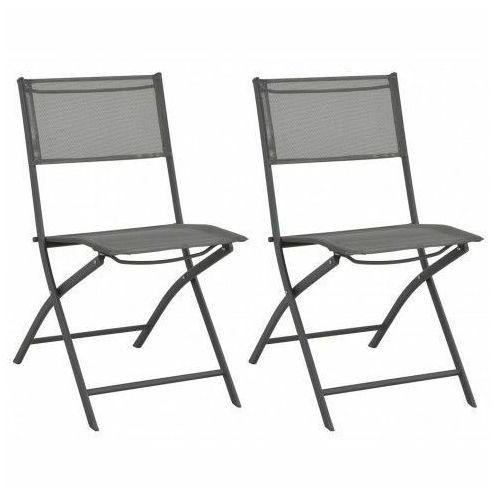 Składane krzesła ogrodowe nilla - 2 szt. marki Elior
