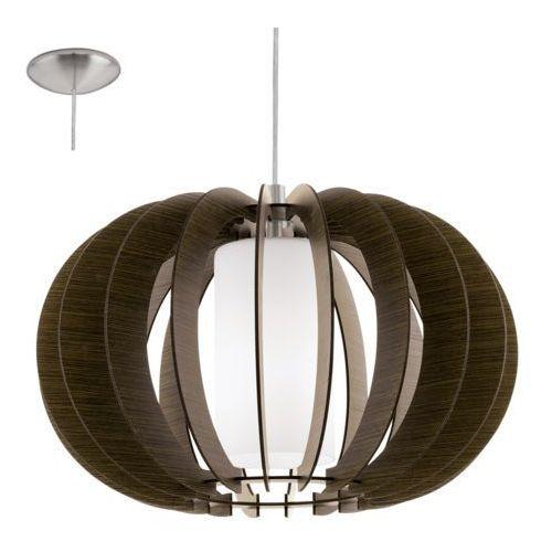 Eglo 95592 - Żyrandol STELLATO 3 1xE27/60W/230V, kolor brązowy