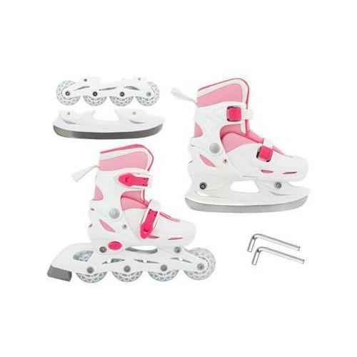 S.t.i. ltd. 2w1!! łyżwo-rolki white&pink (rozmiar 30-33).
