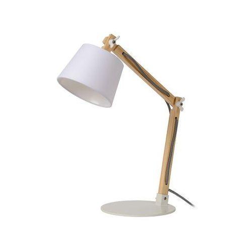 Lucide OLLY lampa stołowa Brązowy, Biały, 1-punktowy - Klasyczny - Obszar wewnętrzny - OLLY - Czas dostawy: od 4-8 dni roboczych