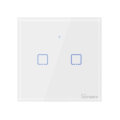 Sonoff Włącznik światła inteligentny, dotykowy dwukanałowy t0eu2c-tx (6920075725513)