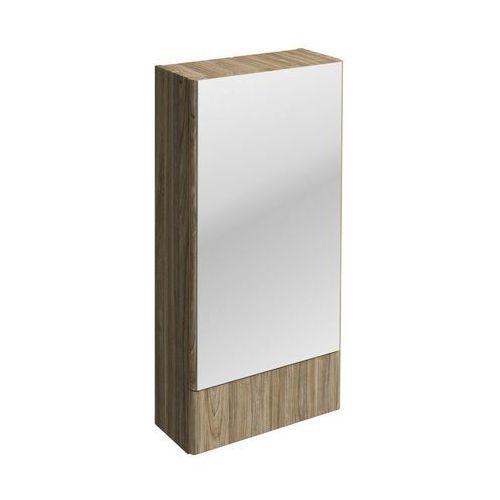 Nova Pro Koło szafka wisząca 41 8 x 85 x 17 6 cm z lustrem szary jesion - 88438000 (5906976556761)