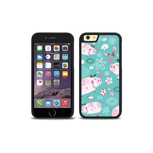 Apple iPhone 6 - etui na telefon Aluminum Fantastic - różowe świnki, ETAP138HBFNFC037000