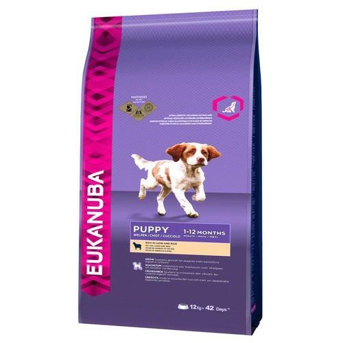 Eukanuba Puppy All Breeds, jagnięcina i ryż - 2 x 12 kg, PEUK026