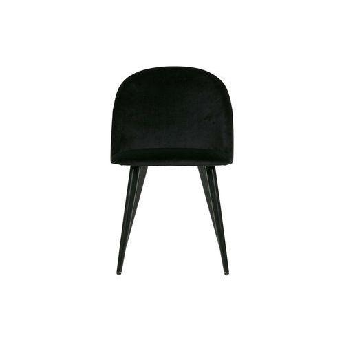 zestaw 2 krzeseł fay velvet czarne 373723-z marki Woood