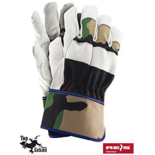 Rękawice robocze wzmacniane skórą licową rforester rozmiar 10,5 marki R.e.i.s.
