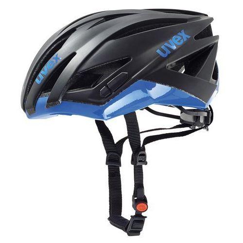 Uvex kask rowerowy ultrasonic race black mat-blue 52-56 (4043197270777)