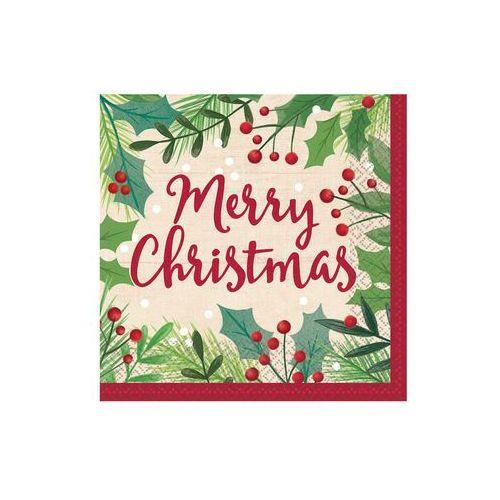 Twojestroje.pl Serwetki merry christmas 16szt (0013051694074)