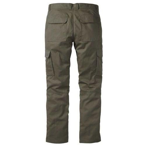 """Spodnie """"bojówki"""" z powłoką z teflonu regular fit straight ciemnooliwkowy marki Bonprix"""