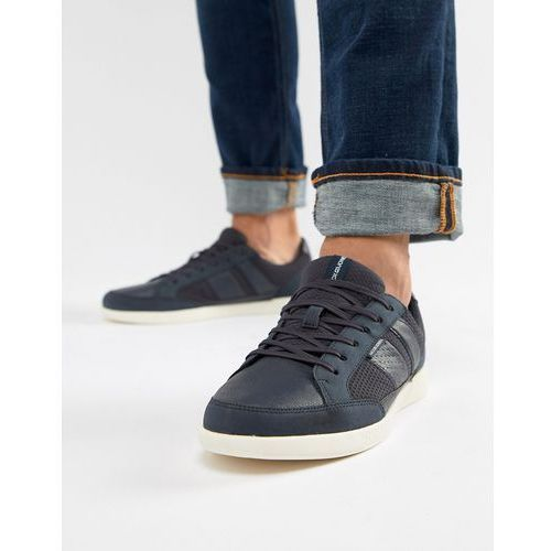 Jack & jones mixed panel trainers - navy