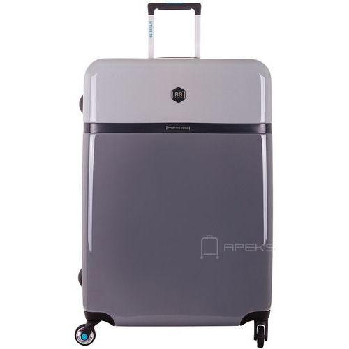 BG Berlin Tri Colors walizka lekka duża podróżna 77 cm / szara - Stormy Weather (6906053050914)
