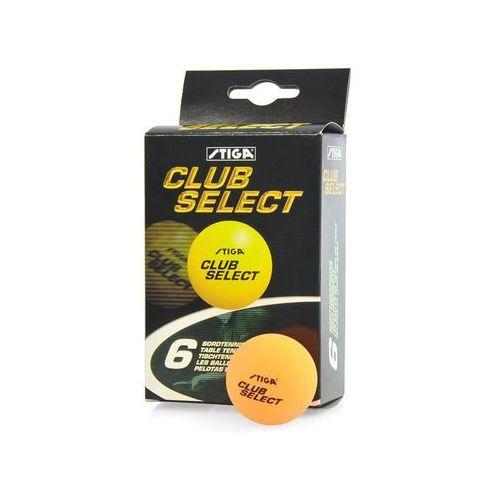Piłeczki do tenisa stołowego club select 6szt.  - pomarańczowy - pomarańczowy od producenta Stiga