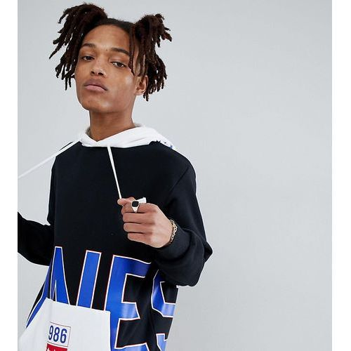 Converse one star '86 pullover hoodie in black exclusive at asos - black