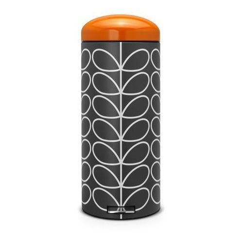 - kosz pedałowy 'retro' - wiaderko plastikowe – 30l - pokrywa pomarańczowa marki Brabantia