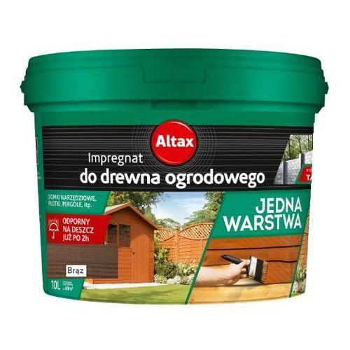ALTAX- impregnat do drewna ogrodowego, brąz, 10 l