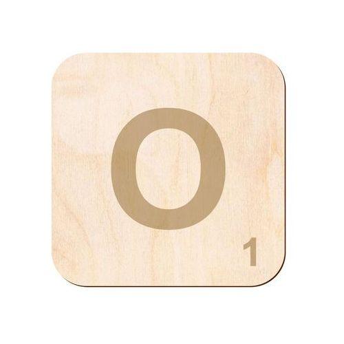 Drewniana dekoracja na ścianę scrabble - literka O