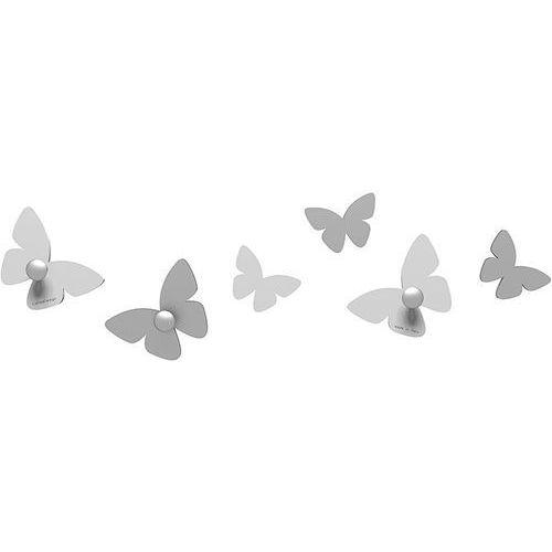 Wieszaczki ścienne Millions of Butterflies CalleaDesign białe (50-13-2-1)