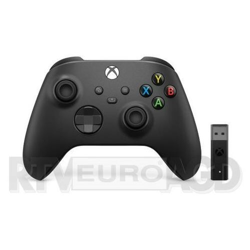 Microsoft Xbox Series Kontroler bezprzewodowy + adapter (carbon black) (0889842657586)