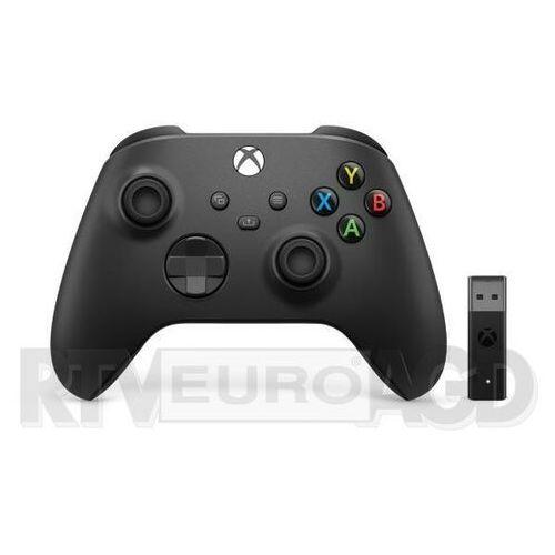 Microsoft Xbox Series Kontroler bezprzewodowy + adapter (carbon black), 1VA-00002