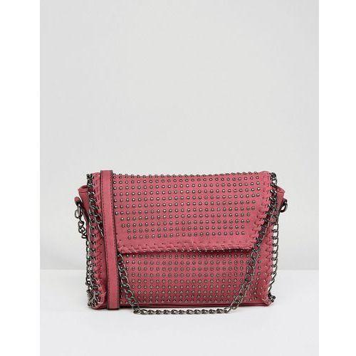 Yoki Chain Detail Across Body Bag - Red, kolor czerwony