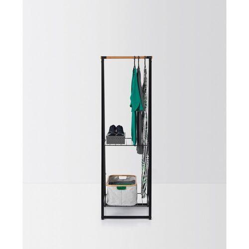 - wieszak na ubrania z półkami, 60,00 cm, czarny marki Brabantia