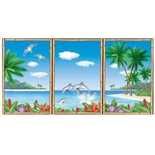 Hawajska dekoracja ścienna okna - 3 szt. marki Amscan