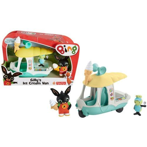 Fisher-price Fisher price królik bing van z lodami figurki królik bing i gilly chf24