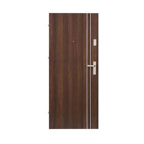 Drzwi wejściowe IRYD 01 Orzech premium 80 Lewe DOMIDOR (5907479330254)
