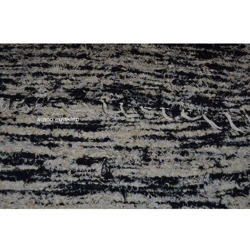 Chodnik bawełniany, ręcznie tkany, czarno-jasno szary 65x200 marki Twórczyni ludowa