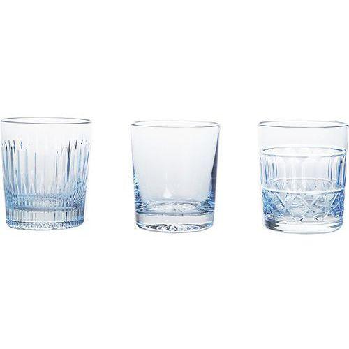 Szklanki do whisky Veranda 3 szt. błękitne, 14694