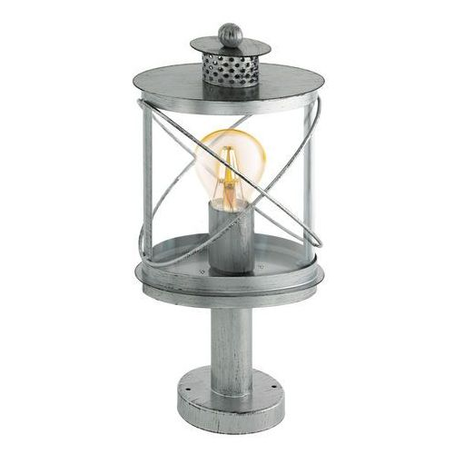 Lampka stojąca Eglo Hilburn 1 94867 oprawa zewnętrzna ogrodowa 1x60W E27 IP44 srebrny/orzech, 94867