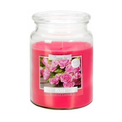 Bispol, snd99, świeca zapachowa słoik z wieczkiem, róża, 1 sztuka (5906927027289)