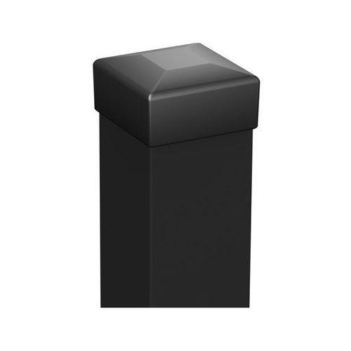 Słupek ogrodzeniowy 5 x 5 x 200 cm czarny POLARGOS (5903427740069)