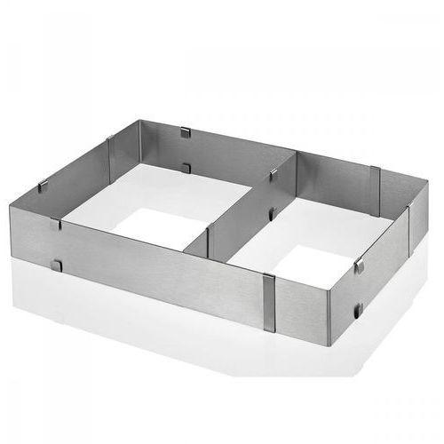 Regulowana forma do pieczenia 18,5x27,5/34x52,5 cm srebrna marki Kuchenprofi