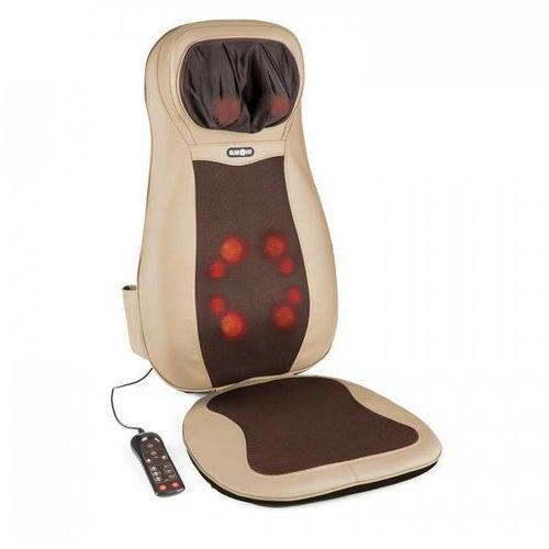KLARFIT Niuwe mata nakładka do masażu shiatsu 3 strefy masażu brązowa (4260457484600)