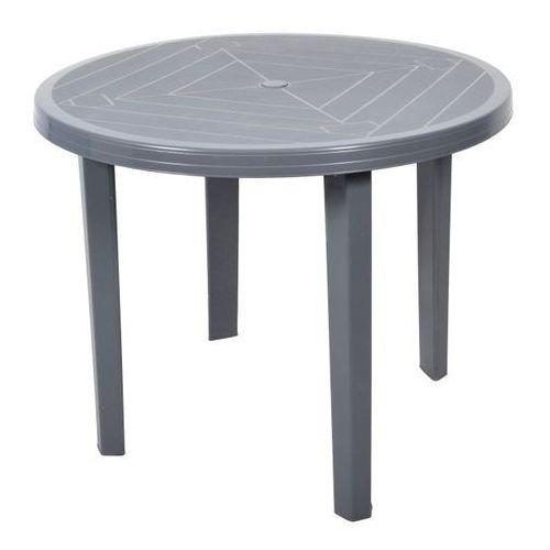 Stół Opal okrągły fi 90 cm szary (5907795802572)