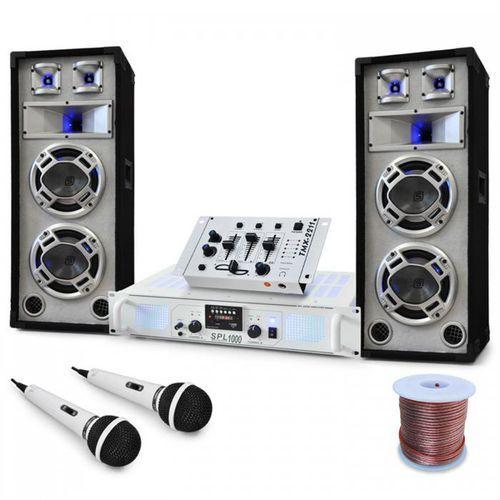 "Electronic-Star Zestaw DJ/PA ""Polar Bear"" Mikser Amplituner Kolumny 2200 W"