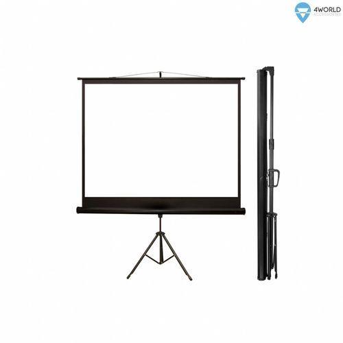"""ekran projekcyjny ze statywem 203x152 (100"""",4:3) biały mat marki 4world"""