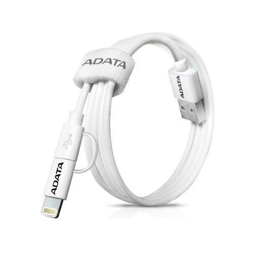 Adata Kabel USB-Lightning/ microUSB 1m White Apple (4712366963535)