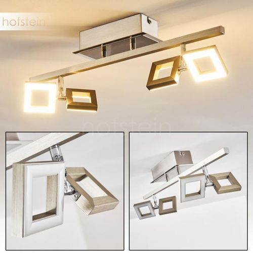 Hofstein Paul neuhaus twins lampa sufitowa led stal nierdzewna, 4-punktowe - nowoczesny/design/lokum dla młodych - obszar wewnętrzny - jamsa - czas dostawy: od 6-10 dni roboczych (4058383097496)