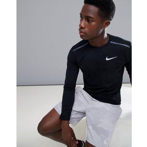 tailwind breathe long sleeve top in black 891490-010 - black marki Nike running