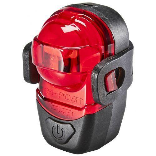 Busch + müller ix-post lampka rowerowa tylna czerwony/czarny lampki tylne na baterie (4006021009554)