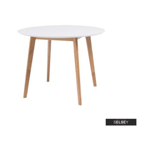 Signal Selsey stół ikast średnica 100 cm z białym blatem