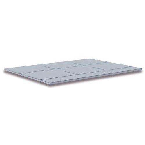 Capp-plast Pokrywa z polietylenu, do wym. zewn. dł. x szer. 1200x1000 mm, szary.